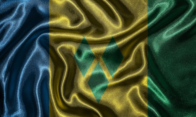 Wallpaper by saint vincent and grenadines flag and waving flag by fabric.