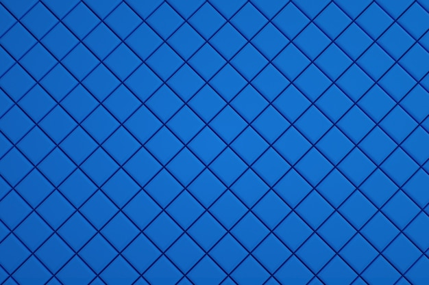 Wallpaper, illustration of blue tiles laid out, small blue squares made of tiles. floor covering, kitchen, swimming pool. 3d graphics, illustrations