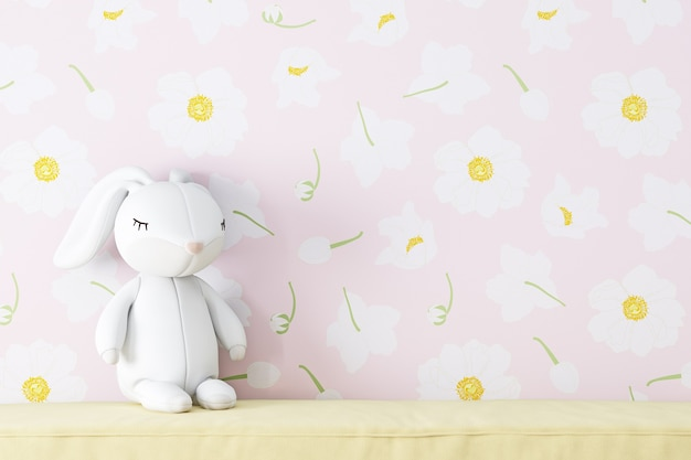 Wallpaper pink flowers background for pictures products bags caps kids mockup