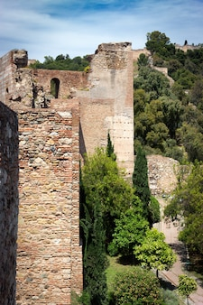 Walls of the alcazaba of malaga