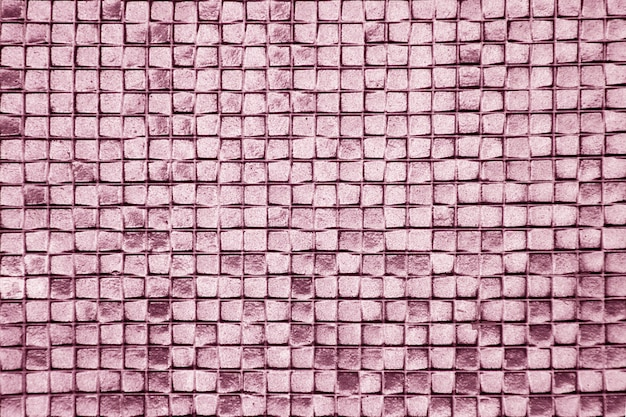 The walls are decorated with purple of tiles, texture background
