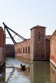 Walls of the arsenal of venice