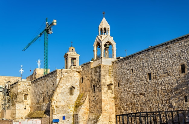 Walls of the church of the nativity in bethlehem, palestine