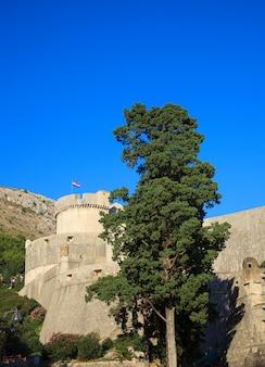 Walls of dubrovnik in croatia