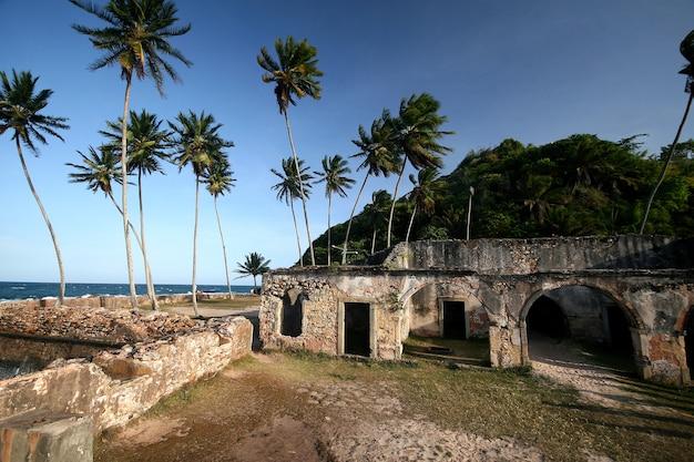 バイアのモロドサンパウロの城壁要塞。ブラジル