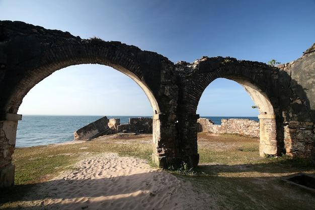 Morro do sao paulo, bahia의 벽 요새. 브라질