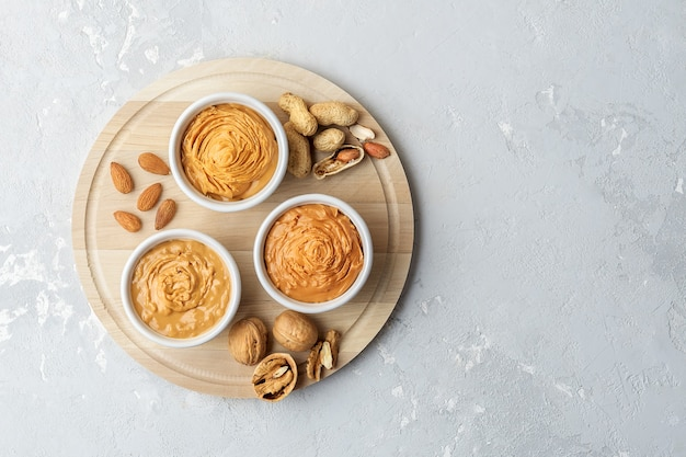 Walnut butter made of peanuts