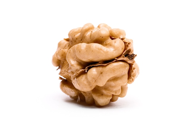 Walnut isolated on a white surface