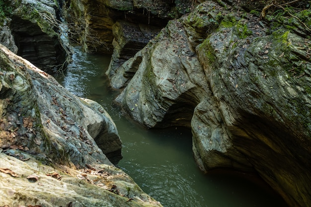 Wang sila laeng grand canyon near pua, nan province, thailand