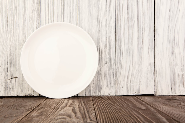 Ware for food white on a wooden table