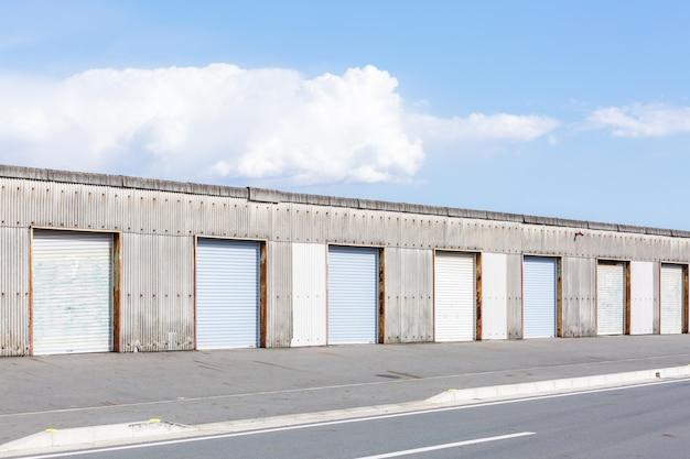 Warehouse door.