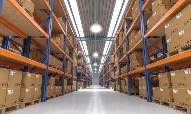 Warehouse indoor view