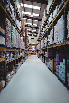 Warehouse isle with no people