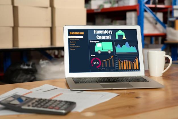 실시간 모니터링을 위한 컴퓨터의 창고 관리 소프트웨어 응용 프로그램