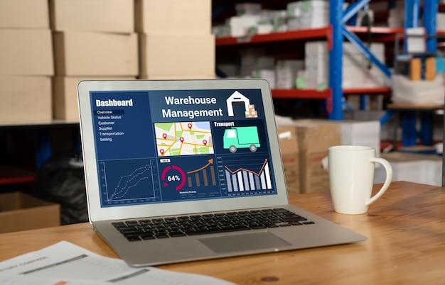 실시간 모니터링을위한 컴퓨터의 창고 관리 소프트웨어 애플리케이션