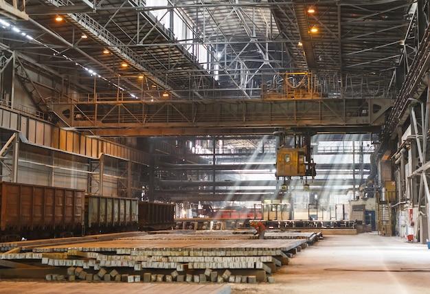 倉庫金属ブランク。金属の電気メッキ工場。
