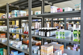 Warehouse of pharmacy