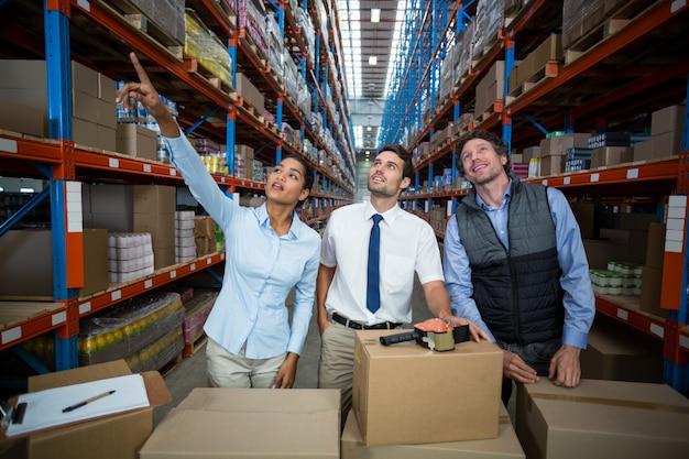 Warehouse team preparing a shipment