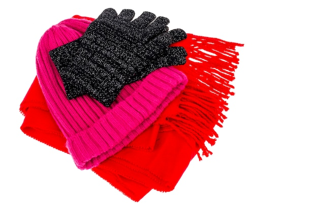 Warm clothing accessories in cold season.