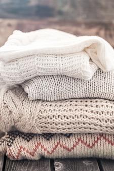 暖かい居心地の良いセーター