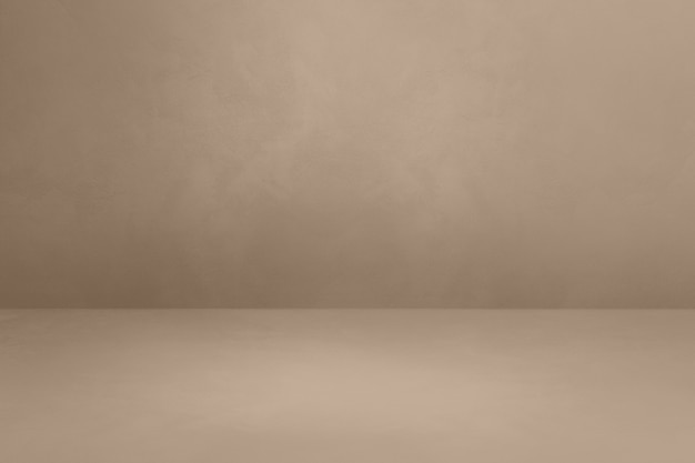 Теплый серый бетонный интерьер. пустая шаблонная сцена