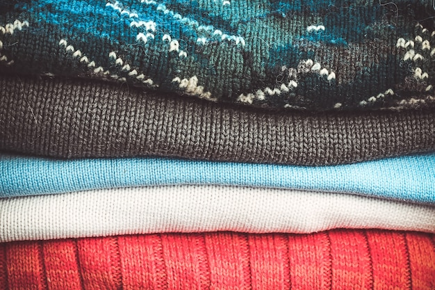 Warm knitted sweaters for autumn and winter weather