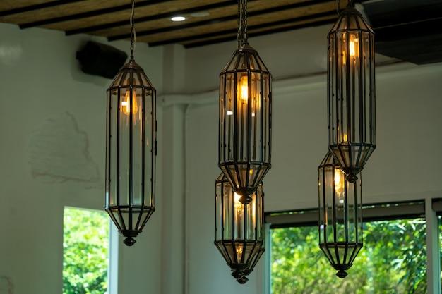 Warm and vintage interior lights