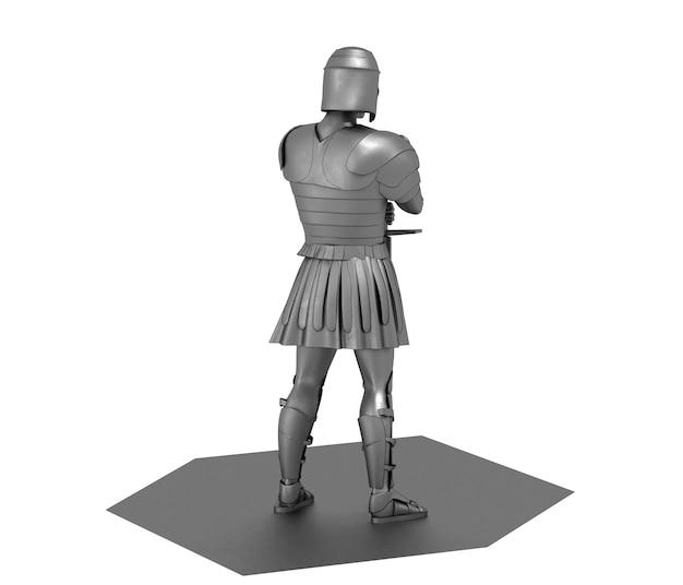 Воин персонаж cg рендеринг 3d иллюстрации
