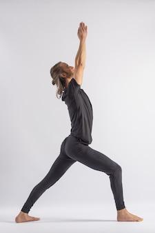 Warrior pose yoga posture asana