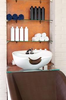Умывальник для мытья волос уход за волосами спа-процедуры в парикмахерской