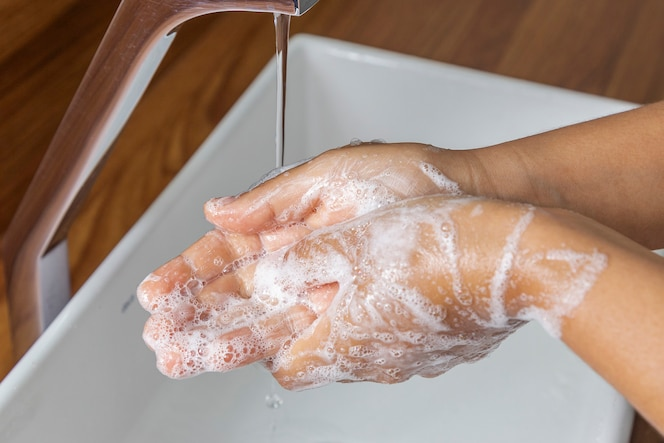 Wash your hands with soap to prevent the corona virus, hygiene to prevent the spread of the coronavirus.
