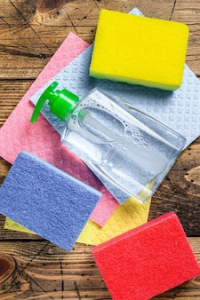 Washing and cleaning stuff, domestic supplies for spring cleaning service
