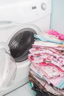 洗濯機。洋服ランドリー。