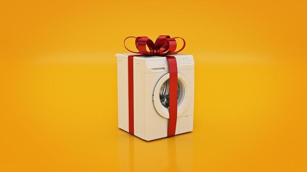 洗濯機のコンセプトが3dレンダリングを割引