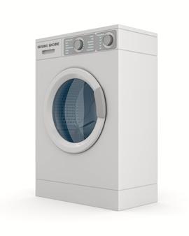 白で隔離される洗濯機。 3dイラスト