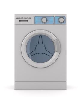 Washing machine on white space. isolated 3d illustration