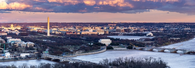 ワシントンdcの日没