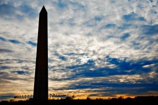 Washington monument silhouette  tourism