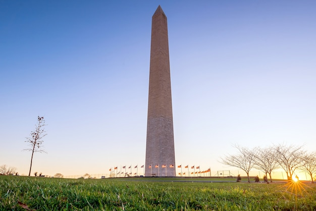 Washington monument in washington, d.c. at sunset
