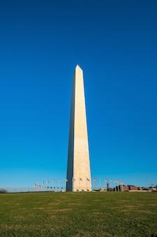 Washington monument in washington, d.c. with blue sky