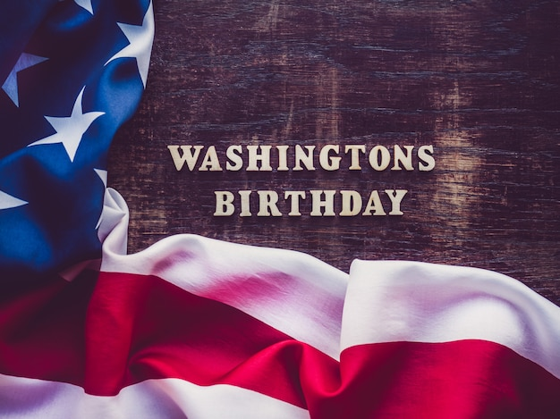ワシントンの誕生日。美しいグリーティングカード Premium写真