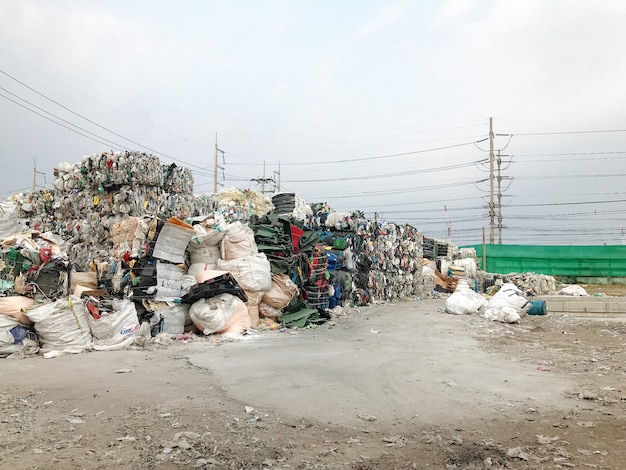 Waste pile is recycled.