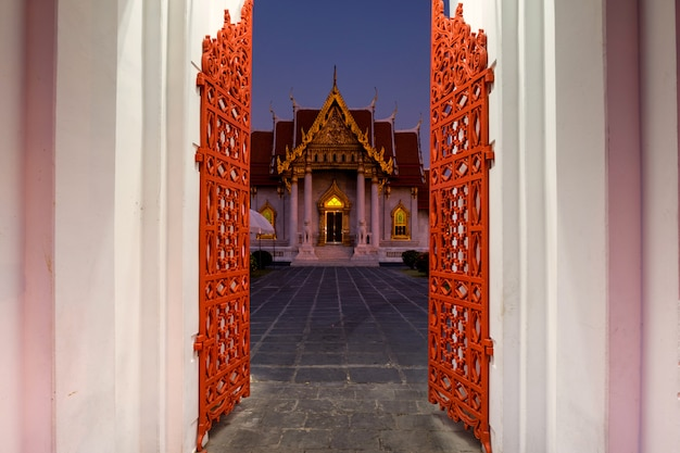 Wat benchamabophit or marble temple entrance