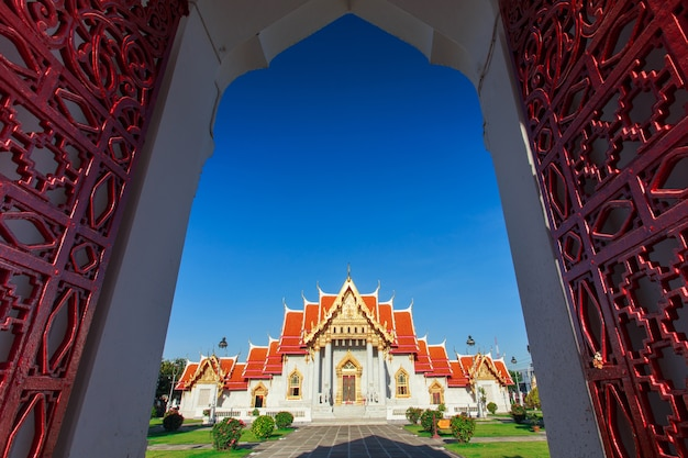 Мраморный храм, wat benchamabopit dusitvanaram в бангкоке, таиланд