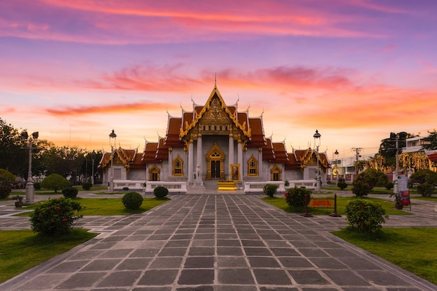 Ват бенчамабопитр дуситванарам, бангкок, таиланд.