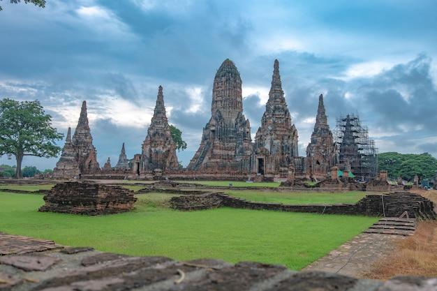 Wat chaiwatthanaram is a buddhist temple in the city of ayutthaya historical park, thailand