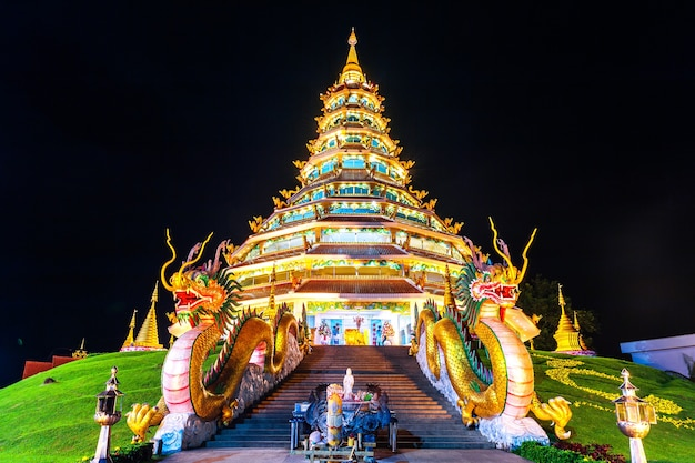 Wat huay pla kang, tempio cinese nella provincia di chiang rai, thailandia.