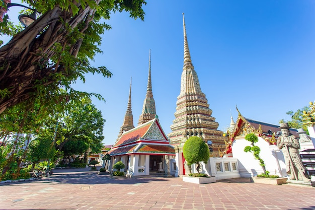 Wat pho is a buddhist temple in  bangkok