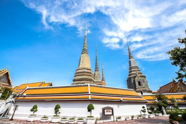 Ват пхо, золотая статуя лежащего будды, таиланд, бангкок, таиланд