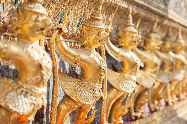 Wat phra kaeo, temple of the emerald buddha garuda, bangkok, thailand